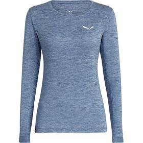 SALEWA Puez Melange Dry Longsleeve T-shirt Dames, poseidon melange